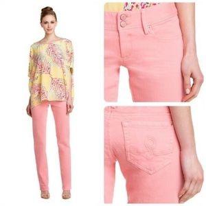 🦋 Lilly Pulitzer Worth Straight Leg Jeans, Sz 0